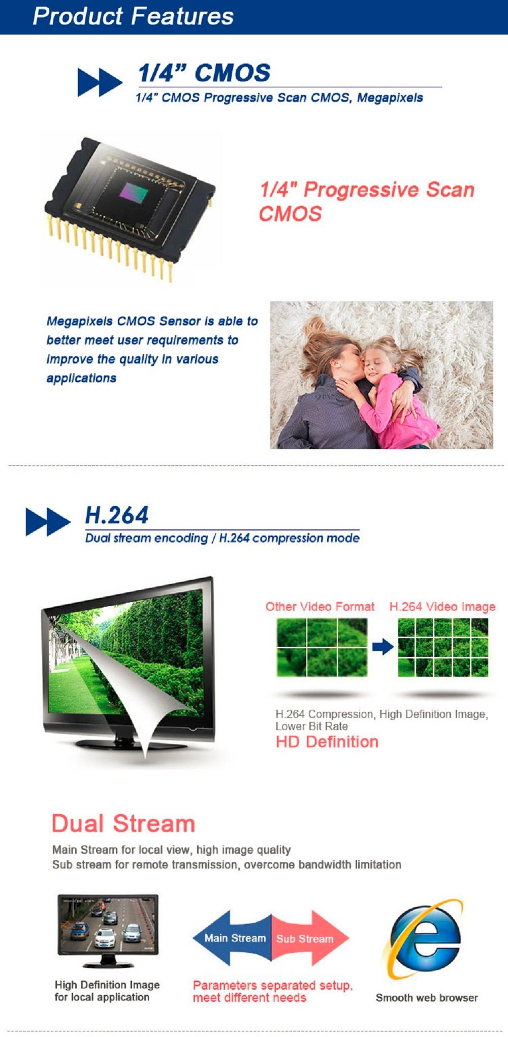 ESCAM Snail QD500 Waterproof Dome IP Camera CCTV 14 Inch 1MP CMOS 720P (6)