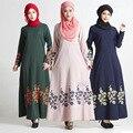 Мода Мусульманин Платье Абая В Дубае Традиционной Исламской Одежды Для Женщин-Мусульманок Абая Джилбаба Djellaba Розовое Платье с Цветочным Принтом