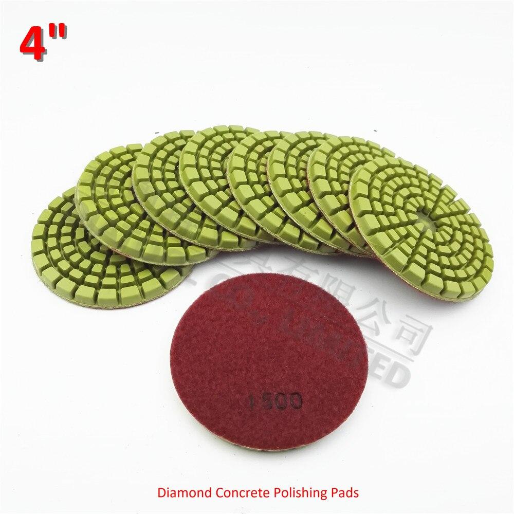 Forbeton tout diatool 9pcs 100mm thickened diamond resin bond concrete polishing