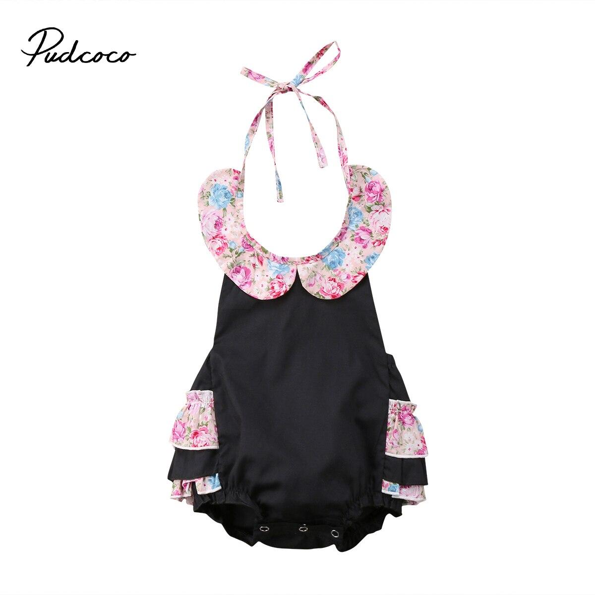 Pudcoco Newborn Infant Baby Girls Floral Romper Playsuit Jumpsuit Outfits Sunsuit One-Pieces Clothes