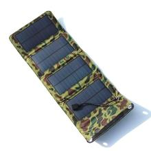 5V 7W PVC Waterproof Folding Solar Panel Bank External Charger Power Panel Solar Power Panel For Smart Mobile Phone