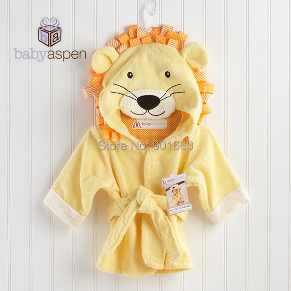 León amarillo Bebé Niña Bata Splash Wrap Baño Toalla Con Capucha Robe 0-12 M