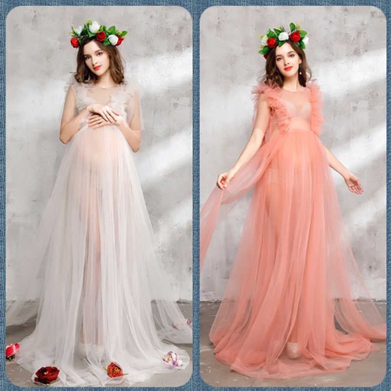 737343b634e ... Bear Leader Maternity Dress 2018 New Maternity Photography Props  Maternity Party Dress Voile And Flowers Design