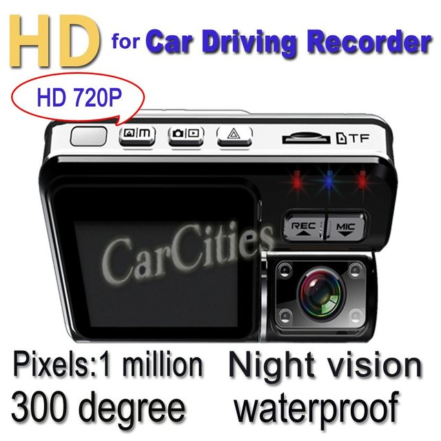 car DVR Camera 1 Million Pixel HD720P,1280*720 Camera Rotation:300 Degree,120 Degree Angle, vehicle DVR car DVR G-sensor
