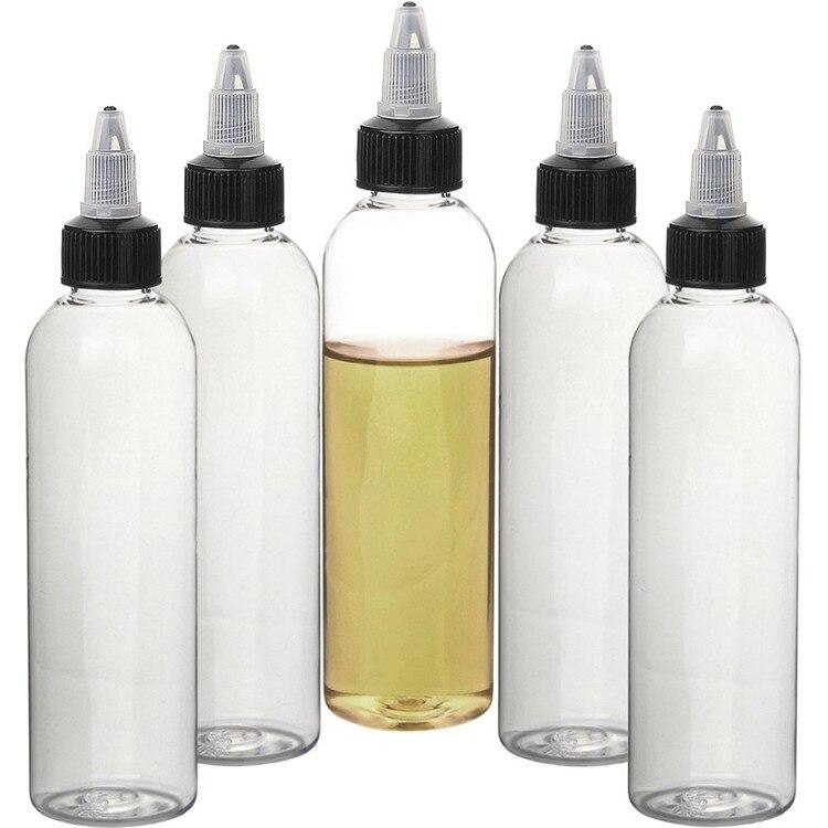 20pcs 30ml/60ml/120ml Empty PET E Juice Clear Liquid Vape Oil Dropper Water Bottles Twist Top Cap Bottle For Tattoo Pigment Ink