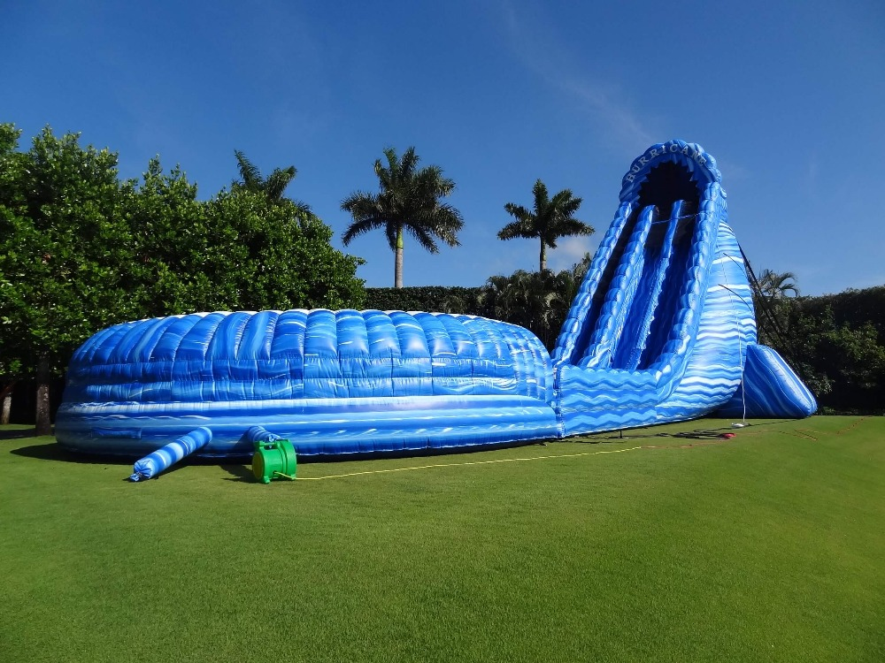 Inflatable Water Slide With The Pool Game For Kids