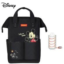 Сумка для подгузников disney, рюкзак для мам, Детская сумка для беременных, сумка для подгузников, дорожная коляска с USB подогревом, черная серия микки