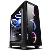 Z1 2 Gaming Desktop PC Intel i7 8700 3.2GHz 120mm Water liquid Cooling GTX 1070Ti 240GB SSD 8GB RAM Computer Home Colorful Fans