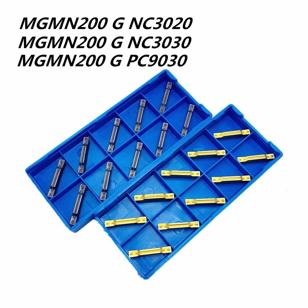 10PCS New CNC Machine Tool Metal Turning Insert MGMN200 G NC3020/3030/PC9030 2mm Slotted Carbide Insert Lathe Tool Cutting Tool