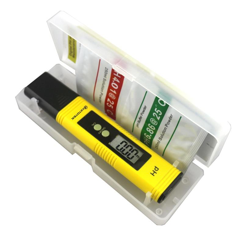 Portable Digital ATC PH Meter 0.00~14.00 Water Fish Tank Monitor Water Quality Liquid Analyzer LCD Glass Electrode