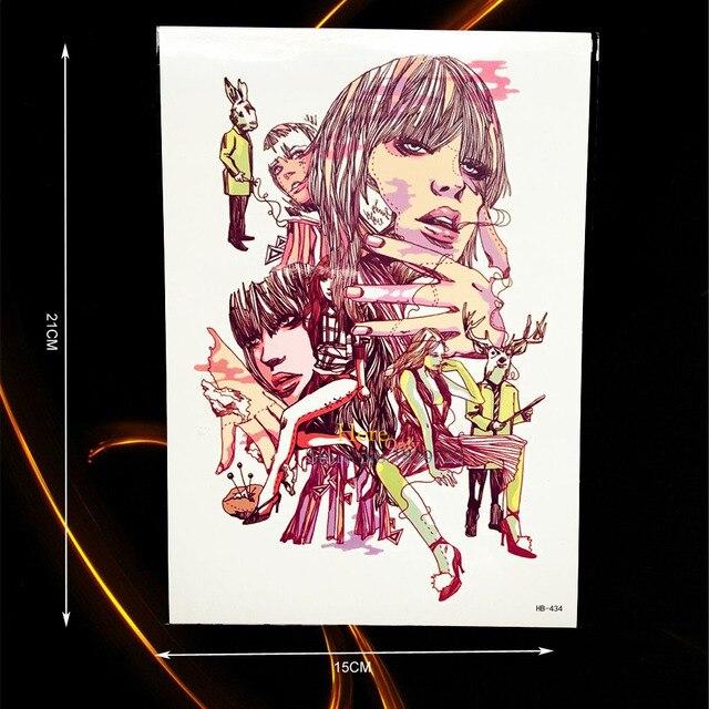 1PC Punk Lady Style Large Fake Tattoo Sleeve Decal Body Art Tempoary Arm  Tattoo Sticker Waterproof b74fa7891502
