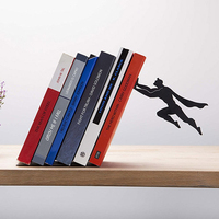 New Creative Superman Metal Bookends Book Stopper Holder DC Super Hero Book End