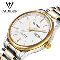CADISEN, мужские часы с сапфировым кристаллом, роскошный бренд, Япония, Movt, 8205, механические, нержавеющая сталь, повседневные, деловые часы в рет...