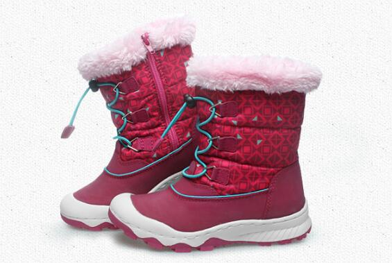 UOVO Children Winter Shoes kids fox fur walking shoes Girls snow shoes Mid-Cut Footwear for Kids winter hiking boots for girls