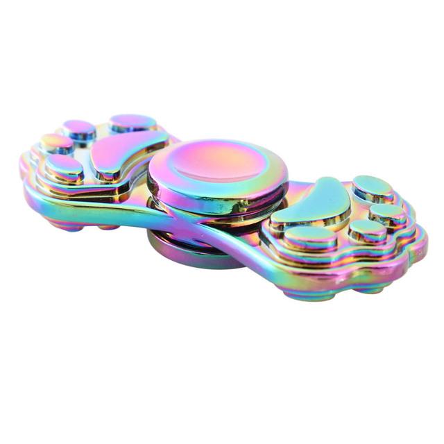 Cat Paw Print Metal Fidget Spinner