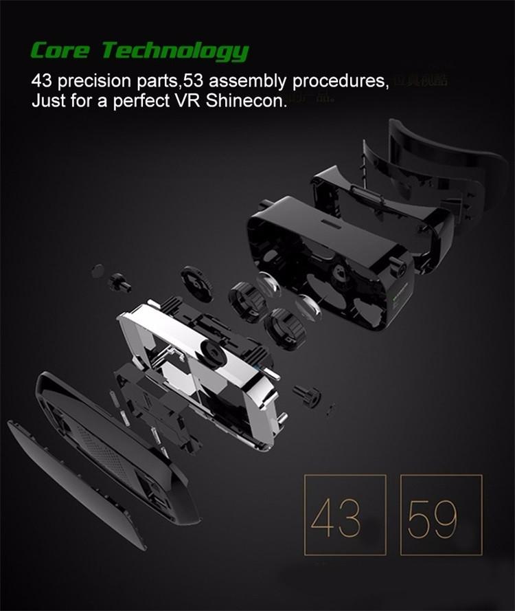 18 Original Shinecon VR Pro Virtual Reality 3D Glasses Headset VRBOX Head Mount Google Cardboard Helmet For Smartphone 4-6inch 15