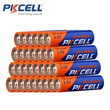 30Pcs/PKCELL1.5Volts LR6 배터리 AA 알카라인 배터리 E91 AM3 MN1500 건전지 2A 단일 사용 배터리