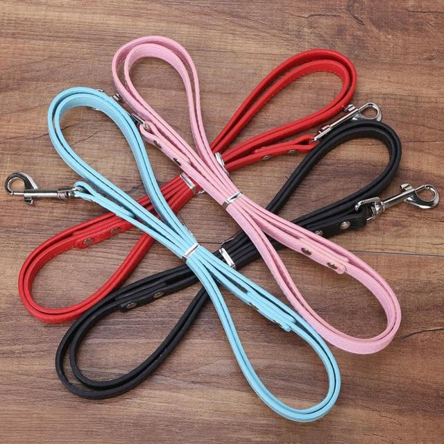 Big Price Cuts 1.2m PU Candy Colour Pet Leashes Dog Cat Lead for Pets Belt Rope Lead Rope S M L 6colours