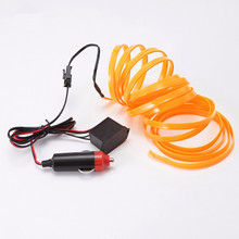 Haoyuehao LED car shape red 1M 2M 3M 5M ambient light flexible neon with car interior lights trim El cold light 12V