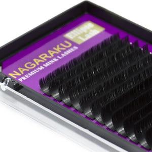 Image 4 - NAGARAKU 5 cases Ellipse Flat False Eyelash Extension flat mink mix cilia eyelashes Faux Mink Ellipse eyelashes