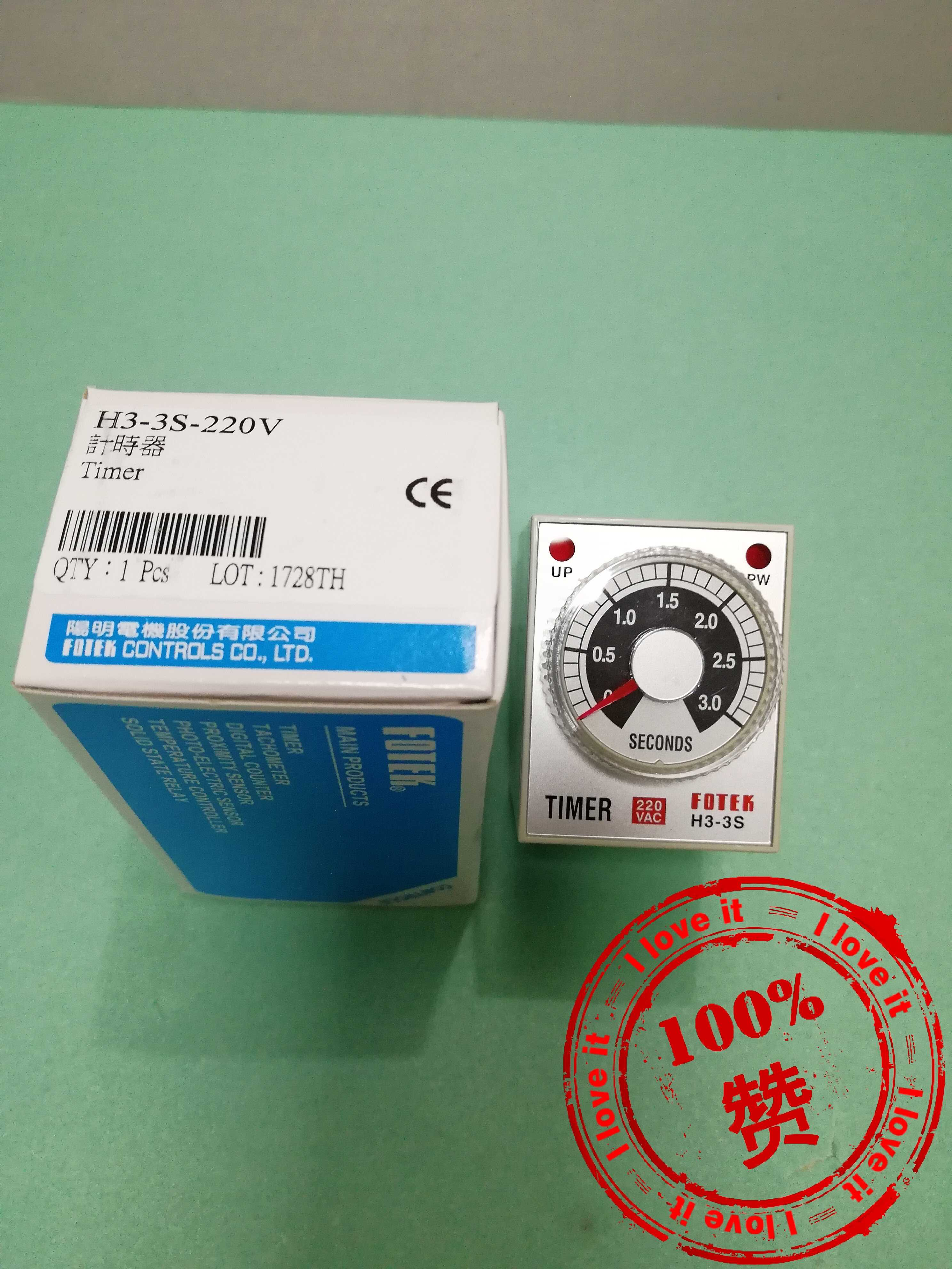 100% New Original timer H3-3S-220V Time relay 1 sec100% New Original timer H3-3S-220V Time relay 1 sec