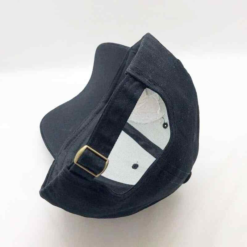 Gorra de calavera bordada para hombres gorras de béisbol de algodón deportes moda patrón negro mujeres Snapback ejército macho gorra Hip Hop hueso