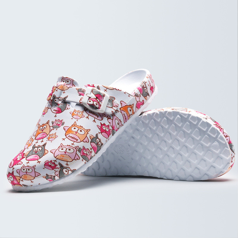 Hospital Surgical Medical Slippers Floral Printed Doctor Nurse Dentist Waiter Workwear Cleaning Shoes Lab SPA Beauty Salon Shoes 4