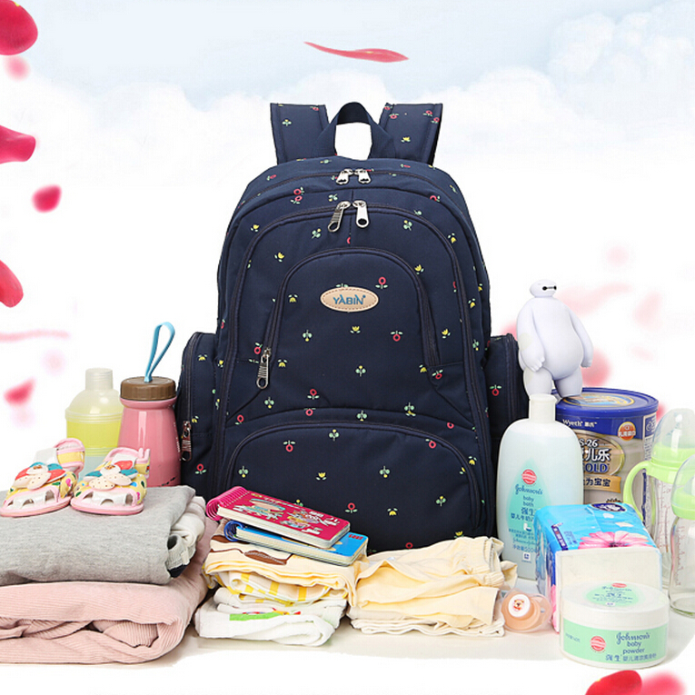 2016 New Arrival Baby Changing Bag,Lovely Newborn Baby Diaper Backpack Blue,Large Capacity Bag for Stroller,Mommy Bags for Baby new arrival shipping free baby diaper bag waterproof 600d nylon mommy bag changing bag women tote bag