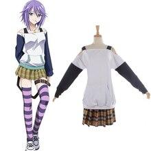 Anime Rosario Vampire Mizore Shirayuki traje traje de vestir para las niñas disfraces de Halloween Cosplay