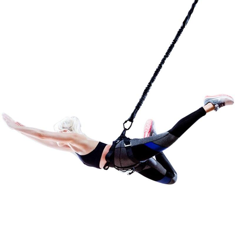 Bandas de resistencia de la Danza del puenteo Fitness Aerial Yoga cordón Pilates suspensión elástica Sling Anti-gravedad Yoga Trainer cuerda de tracción