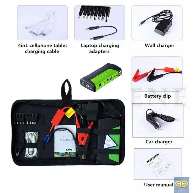 Hot Selling12V Car Jump Starter 400A Peak Portable Car Battery Charger Mini 2USB Phone Laptop Power Bank SOS Light Free Ship