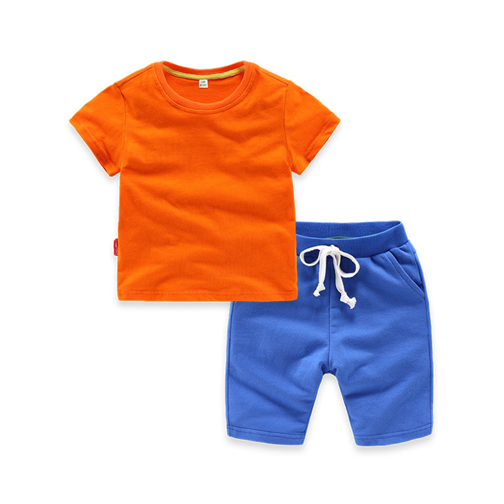 Children clothing suit summer baby boy clothes casual kid sport suits short-sleeved t-sh ...