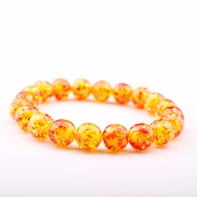 GVUSMIL New Arrival Fashion Women Male Jewelry Beaded Elastic Bracelets Unisex Yellow Beeswax Imitation Ambers Stone Bracelets(China)