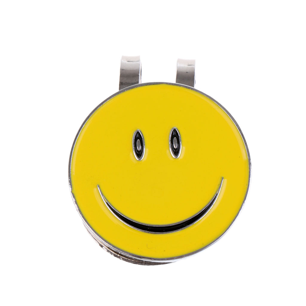 Sturdy Lovely Smile Face Magnet Hat Clip Golf Ball Marker Fit for Golf Cap Visor-in Marks from Sports & Entertainment