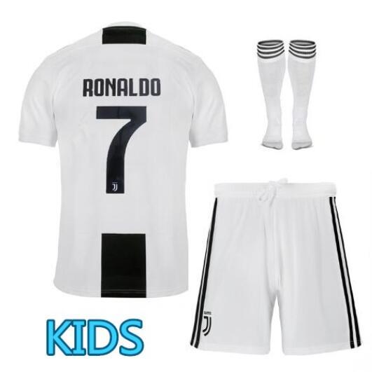 Dropshipping 2019 new best quality Juventus T shirt kids RONALDO DYBALA 18 19 boys shirt ...