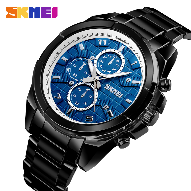 SKMEI luxe Quartz hommes montre intelligente sommeil Tracker Bluetooth étanche montre hommes montres électroniques SOS relogio masculino
