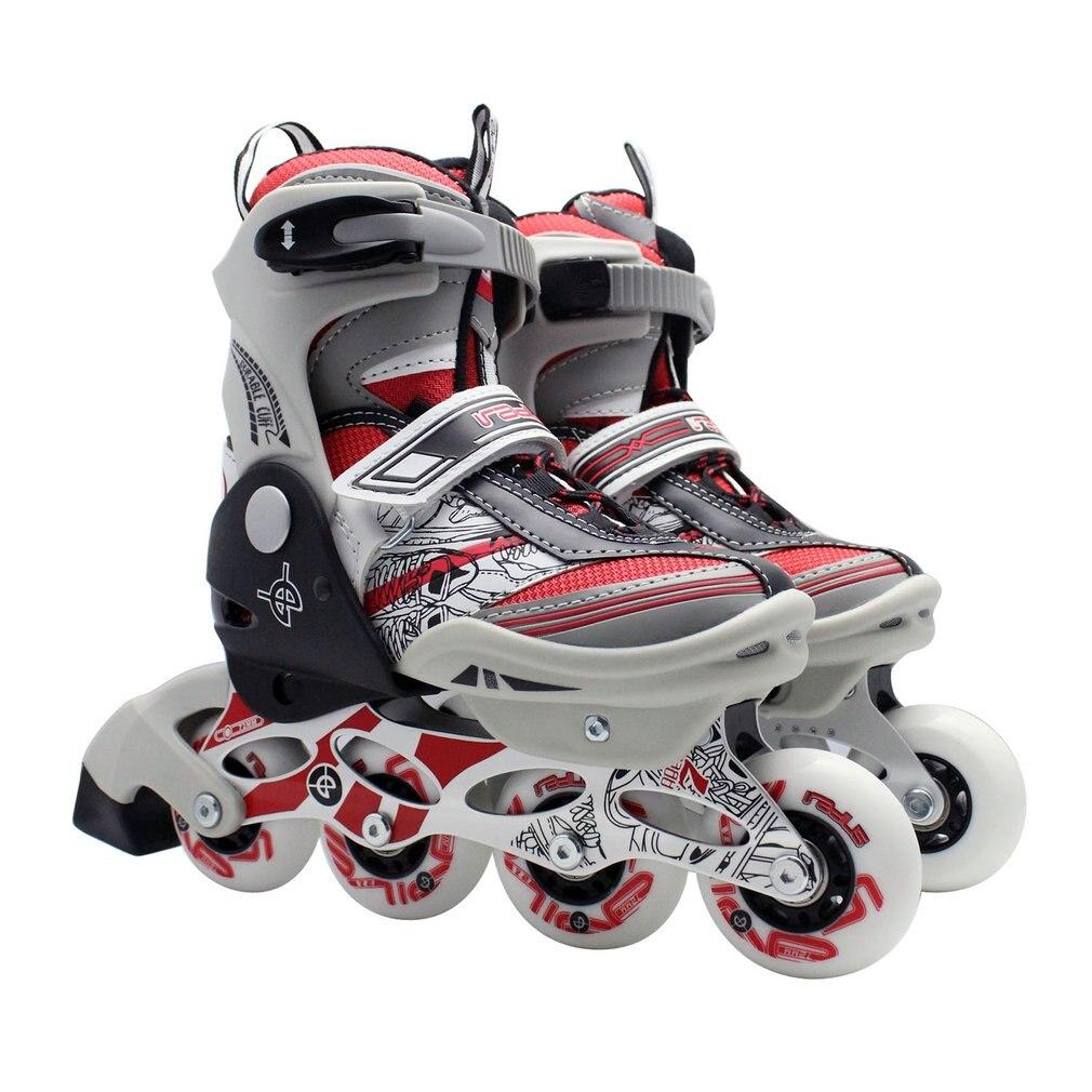 Unisexe professionnel enfants chaussures de patinage à une rangée de patins à roulettes chaussures réglables universels chaussures de patinage en ligne