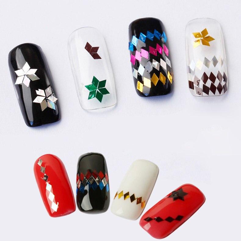 topkwaliteit 1 fles 3D nail art Glitter Pailletten ultradunne Rhombus - Nagel kunst - Foto 3