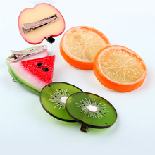 New Summer Style Many Patterns Fruits Slice Fashion Hair Accessories for Girls Kids Women Hair Clips