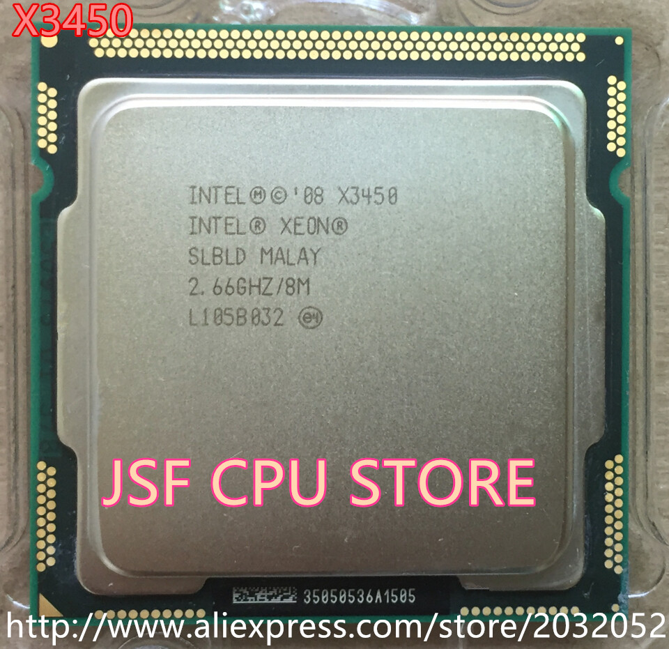 ФОТО Intel Xeon X3450 Quad Core 2.66GHz/8M/2.5GTs SLBLD Socket LGA1156 (working 100% Free Shipping)