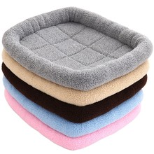 Winter Dog Bed Soft Fleece Warm Cat Beds Multifunction Puppy Cushion Cage Mat Car Seat For Small Medium S/M/L