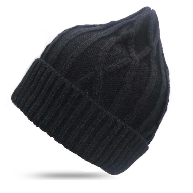 0ba9bb9383d ... 2018 Winter Hats For Women Beanie Cap Solid Warm Hats Knitted Striped  Skullies Beanies Man Thick ...
