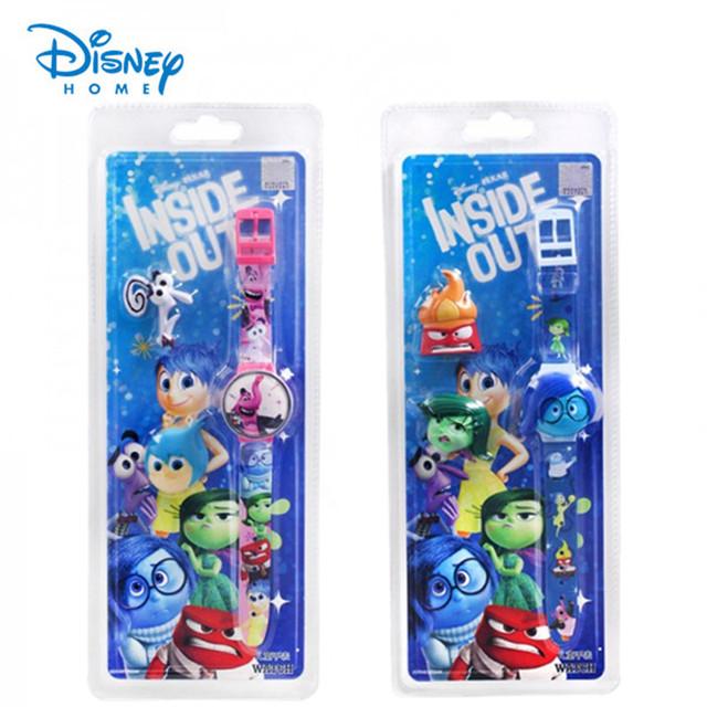 100% Genuine Da Disney relógio Dentro Para Fora relógios crianças moda dos desenhos animados assista