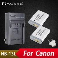 Palo 2PCS NB 13L NB13L Camera Batteries + Charger for Canon G5 X G5X G7 X G7X G7 X Mark II G9 X G9X Mark II SX620 SX720