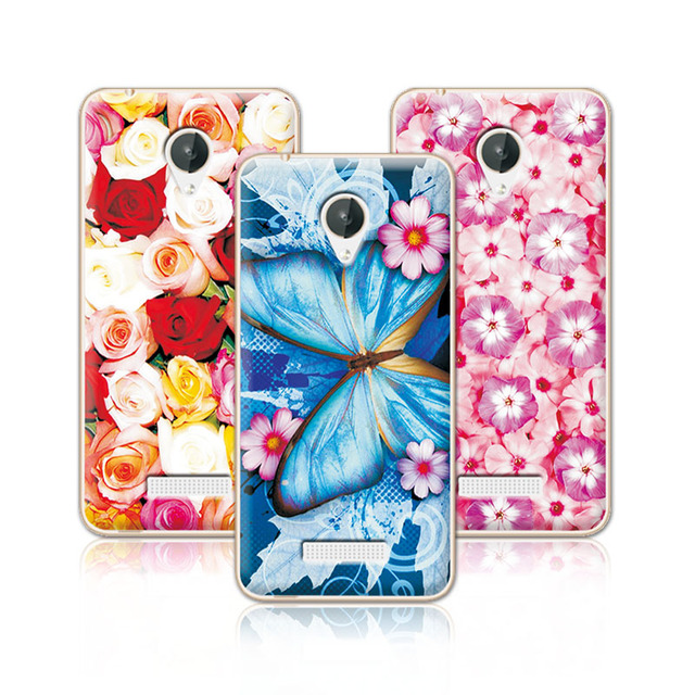 Floral Art Painted Flower Case For Micromax Q380 Canvas Case Cover For Micromax Q380+Free Pen Gift