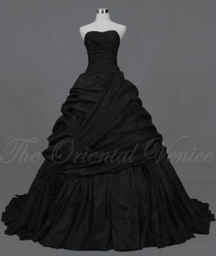 Popular Black Corset Wedding Dresses-Buy Cheap Black Corset ...