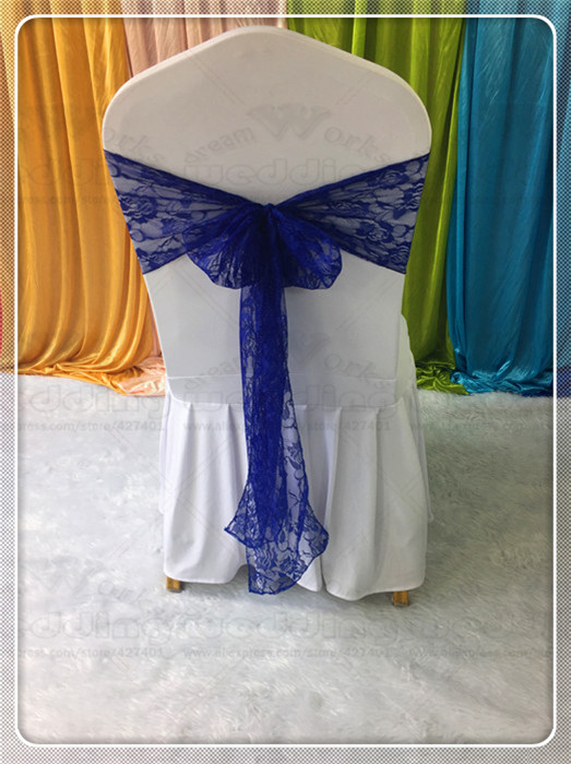 50pcs 8x108 Lace Chair Sashes Bow Table Runner Tablecloth Napkins Fabric Hoods Skirt Overlay Linen Party Wedding Decorations