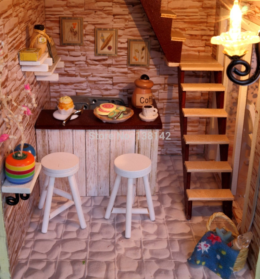 building doll furniture. 13833 New Arrive Large Doll House Villa Model Building Kits Miniature Diy Wooden Dollhouse Lights Furniture Birthday Gift-in Houses From Toys \u0026 Hobbies