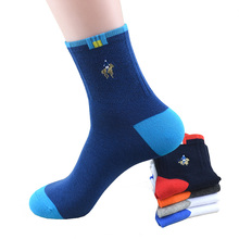 5 Pairs/lot High Quality Fashion Brand PIER POLO Casual Cotton Socks Business Embroidery Men Dress factory Wholesale 2019