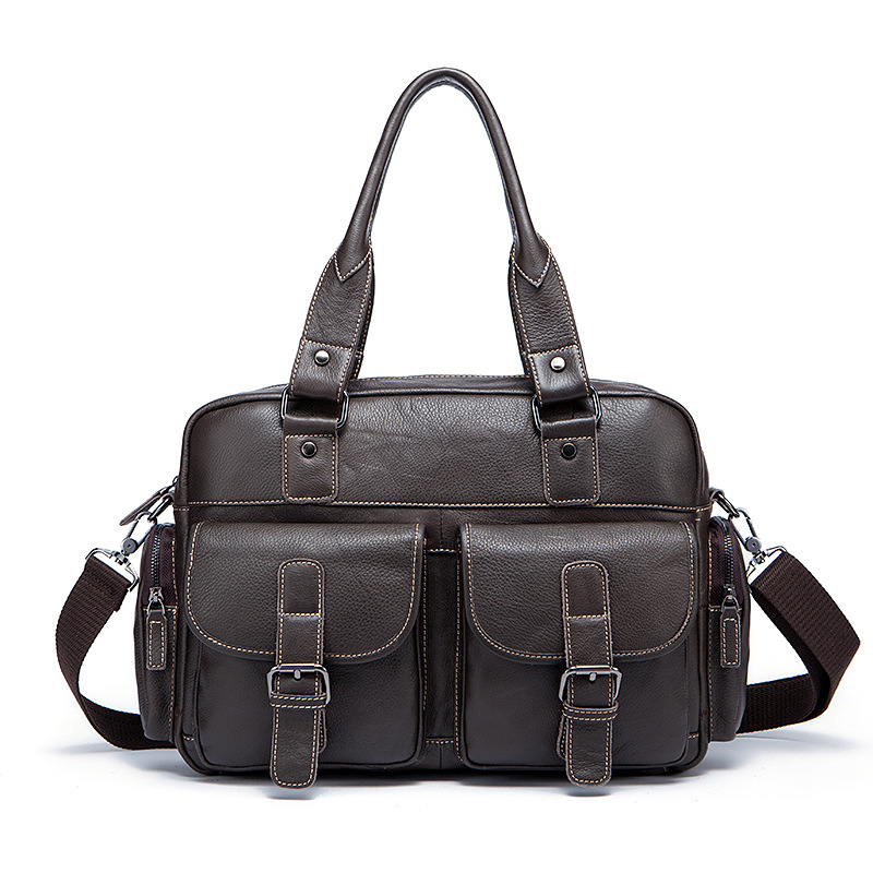 New Retro Genuine Leather for Men Shoulder Bag Large Capacity Leather Handbag Business Messenger Briefcase Bags man s briefcase casual genuine leather bag handbag for men single shoulder bag versatile men bags and large capacity satchels